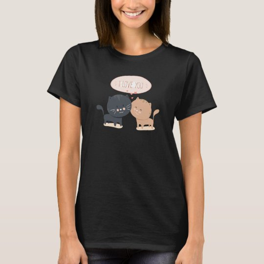 Simple Romantic Cats In Love Shirt