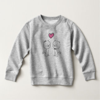 Simple Romantic Cats In Love | Sweatshirt