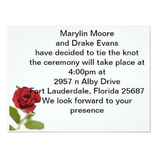 simple rose 17 cm x 22 cm invitation card