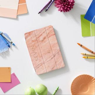 Simple rose-gold marble stone print iPad mini cover