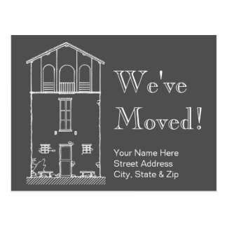 Simple Rustic House Chalkboard New Address Moving Postcard
