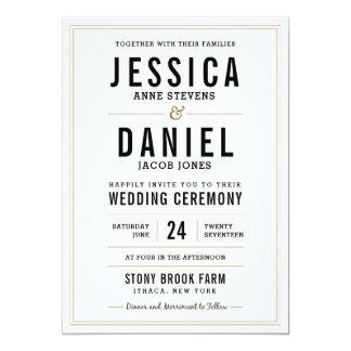 Simple Rustic Wedding Invitation - Floral Back