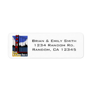 Simple San Francisco golden gate address labels