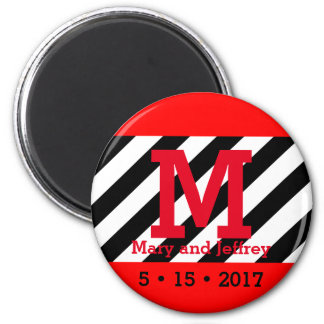 Simple Save the Date Monogram Magnet