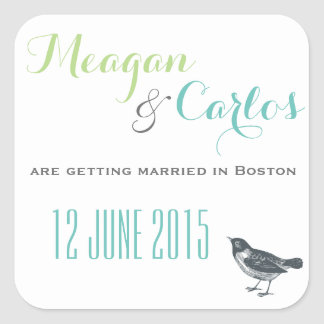 simple save the date sticker for wedding