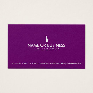 simple saxophone business card