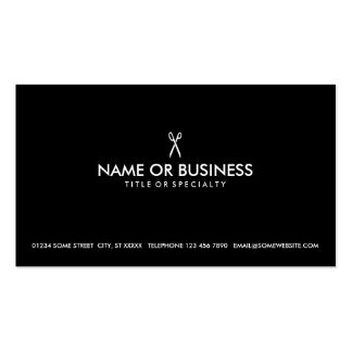 simple scissors pack of standard business cards