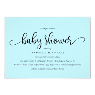 Simple Script | Baby Shower Invitation