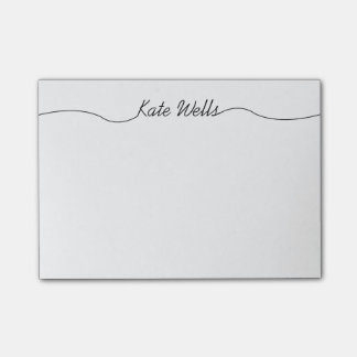 Simple Script Personalized Name Post-it® Notes