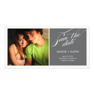 Simple Script Save The Date Photo Card