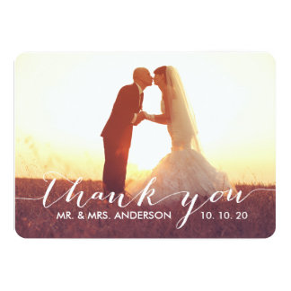 Simple Script Wedding Thank You Cards