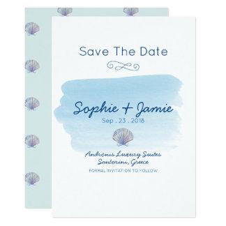 Simple Sea Theme Wedding Save The Date Card