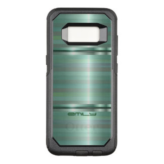 Simple Shades Of Green Stripes OtterBox Commuter Samsung Galaxy S8 Case