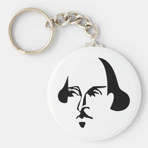 Simple Shakespeare Key Chain