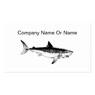 Simple Shark Silhouette Business Cards