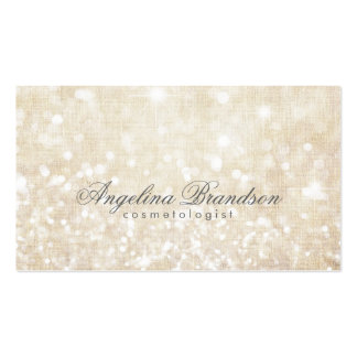 Simple Shimmering Cream Cosmetologist Card Pack Of Standard Business Cards