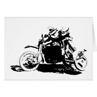 Simple Sidecarcross Design Card