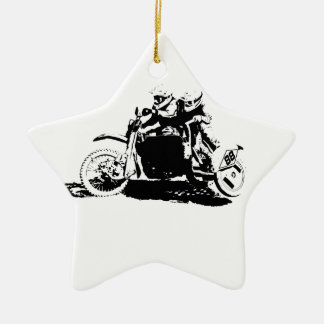 Simple Sidecarcross Design Christmas Ornament