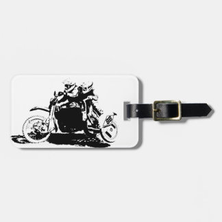 Simple Sidecarcross Design Luggage Tag