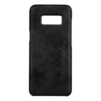 Simple Signature Mottled Black Case-Mate Samsung Galaxy S8 Case