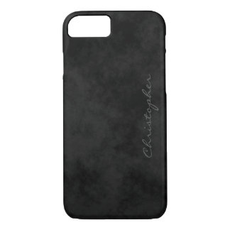 Simple Signature Mottled Black iPhone 7/7s iPhone 8/7 Case
