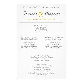 Simple Silhouettes Wedding Program 14 Cm X 21.5 Cm Flyer