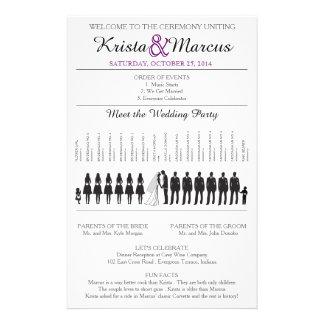 Simple Silhouettes Wedding Program Flyer-10 14 Cm X 21.5 Cm Flyer