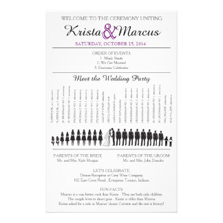 Simple Silhouettes Wedding Program Flyer-11