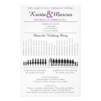 Simple Silhouettes Wedding Program Flyer-11 14 Cm X 21.5 Cm Flyer