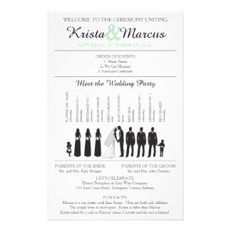 Simple Silhouettes Wedding Program Flyer-12 14 Cm X 21.5 Cm Flyer