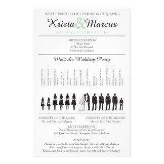 Simple Silhouettes Wedding Program Flyer-12 Flyer