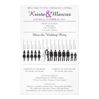 Simple Silhouettes Wedding Program Flyer-13 14 Cm X 21.5 Cm Flyer