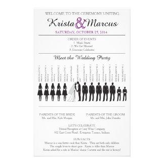 Simple Silhouettes Wedding Program Flyer-13 Flyer