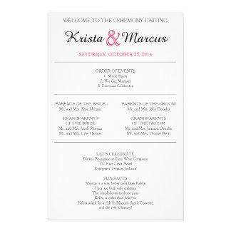 Simple Silhouettes Wedding Program Flyer-14 14 Cm X 21.5 Cm Flyer