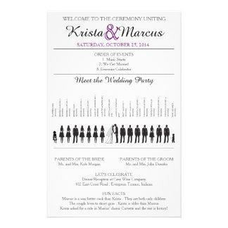 Simple Silhouettes Wedding Program Flyer-15 14 Cm X 21.5 Cm Flyer