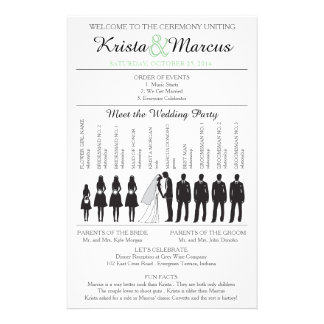 Simple Silhouettes Wedding Program Flyer-2