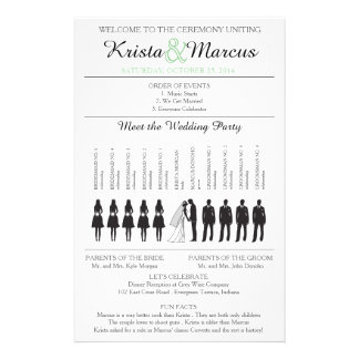 Simple Silhouettes Wedding Program Flyer-2 Flyer