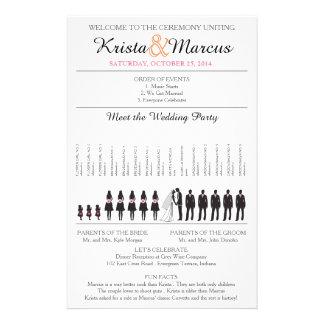 Simple Silhouettes Wedding Program Flyer-2 Flyer
