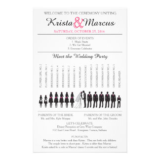 Simple Silhouettes Wedding Program Flyer-3