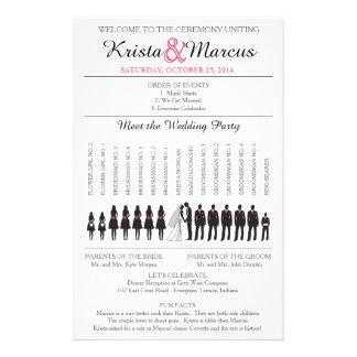 Simple Silhouettes Wedding Program Flyer-3 14 Cm X 21.5 Cm Flyer