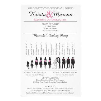 Simple Silhouettes Wedding Program Flyer-3 Flyer