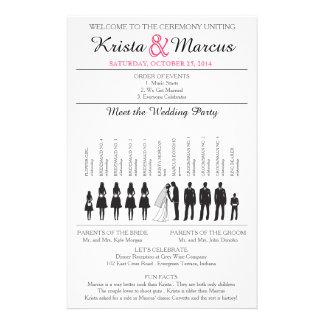 Simple Silhouettes Wedding Program Flyer-4 14 Cm X 21.5 Cm Flyer