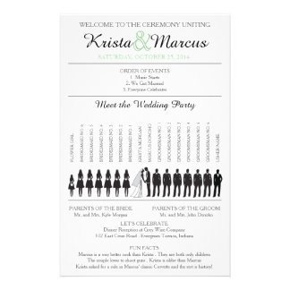 Simple Silhouettes Wedding Program Flyer-5 14 Cm X 21.5 Cm Flyer