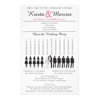 Simple Silhouettes Wedding Program Flyer-5B Flyer