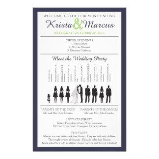 Simple Silhouettes Wedding Program Flyer-6 14 Cm X 21.5 Cm Flyer