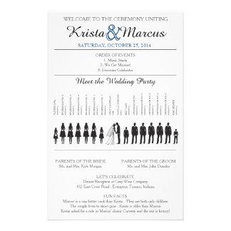 Simple Silhouettes Wedding Program Flyer-6K 14 Cm X 21.5 Cm Flyer