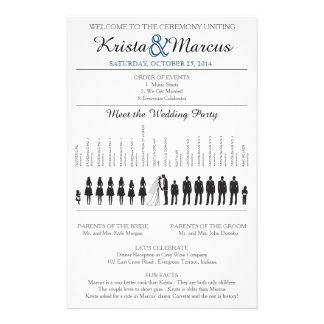 Simple Silhouettes Wedding Program Flyer-6K Flyer