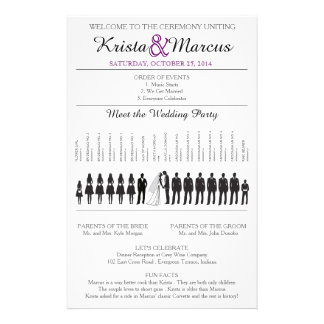 Simple Silhouettes Wedding Program Flyer-7 14 Cm X 21.5 Cm Flyer