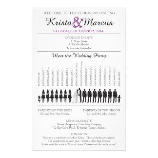Simple Silhouettes Wedding Program Flyer-7T 14 Cm X 21.5 Cm Flyer