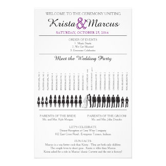 Simple Silhouettes Wedding Program Flyer-8